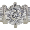 0.9 ct. Round Cut Bridal Set Ring, G, I1 #4