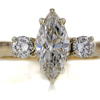 1.28 ct. Marquise Cut 3 Stone Ring #1