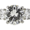 2.63 ct. Round Cut 3 Stone Ring, L, SI2 #4