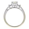 1.02 ct. Asscher Cut 3 Stone Ring, J, SI2 #4