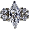 0.93 ct. Marquise Cut Central Cluster Ring, E, SI1 #4