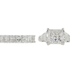 3.55 ct. Princess Cut Bridal Set Ring, I, SI2 #3