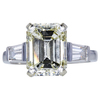 4.57 ct. Emerald Cut 3 Stone Ring, M-Z, VS2 #1