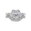 1.34 ct. Radiant Cut Bridal Set Ring, F, VVS2 #3