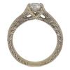 0.72 ct. Round Cut Bridal Set Ring, H, I1 #4