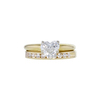 1.00 ct. Heart Cut Bridal Set Ring, J, SI1 #4