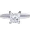 1.2 ct. Princess Cut Solitaire Ring, G, SI2 #3