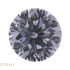 0.8 ct. Round Modified Brilliant Cut 3 Stone Ring, F, SI2 #3