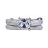 1.00 ct. Asscher Cut Bridal Set Ring, E, SI2 #3
