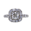 1.01 ct. Cushion Cut Halo Ring, H, SI2 #2
