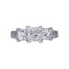 1.01 ct. Princess Cut 3 Stone Ring, H, VS2 #3