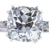 2.21 ct. Old Mine Cut Bridal Set Ring, I, SI2 #4
