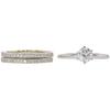 0.74 ct. Round Cut Bridal Set Ring, H, VS2 #3