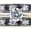 0.97 ct. Round Cut Bridal Set Ring, G, SI2 #4
