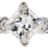 1.98 ct. Princess Cut 3 Stone Ring, I, SI2 #4