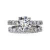 2.51 ct. Round Cut Bridal Set Ring, M, VS2 #2