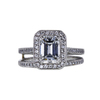 1.20 ct. Emerald Cut Bridal Set Ring, F, VS2 #3