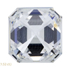 1.51 ct. Asscher Cut 3 Stone Ring, G, VS1 #2