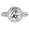 2.51 ct. Round Cut Halo Ring, L, SI1 #2