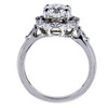 1.40 ct. Round Cut Central Cluster Ring, F, VVS1 #3