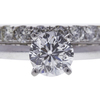 1.0 ct. Round Modified Brilliant Cut Bridal Set Ring, G, SI1 #4