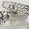 1.02 ct. Round Cut Bridal Set Ring #1