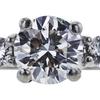 1.08 ct. Round Cut Bridal Set Ring, H, SI2 #4