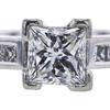 0.71 ct. Princess Cut Bridal Set Ring, G, SI1 #4