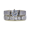0.66 ct. Round Cut Bridal Set Ring, I, SI1 #3