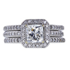 1.01 ct. Radiant Cut Bridal Set Ring, G, VS2 #3