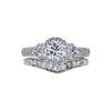 0.92 ct. Round Cut Bridal Set Ring, H-I, I1 #2
