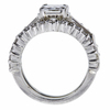 1.11 ct. Radiant Cut Bridal Set Ring, D, SI2 #3