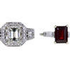 1.75 ct. Emerald Cut Bridal Set Ring, J, SI1 #3