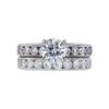 0.90 ct. Round Cut Bridal Set Ring, F, I1 #4