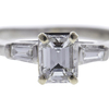 0.73 ct. Emerald Cut 3 Stone Ring, F, VVS2 #4