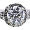 0.94 ct. Round Cut Bridal Set Ring, H, SI2 #4