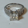 3.02 ct. Princess Cut Bridal Set Ring #2