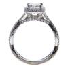 1.0 ct. Princess Cut Halo Ring, F, SI2 #4