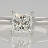 1.28 ct. Princess Cut Solitaire Ring #1