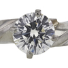 Antique GIA 1.74 ct. Round Cut Solitaire Ring, H, SI2 #4