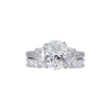 3.0 ct. Oval Cut Bridal Set Ring, I, I1 #4