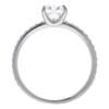 0.78 ct. Cushion Cut Bridal Set Ring, E, SI1 #4
