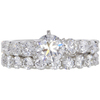 0.9 ct. Round Cut Bridal Set Ring, F, I1 #3
