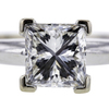 1.02 ct. Princess Cut Solitaire Ring #4