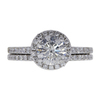1.24 ct. Round Cut Halo Ring, H, I1 #3