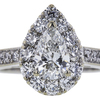 0.91 ct. Pear Cut Bridal Set Ring, F, VS1 #4