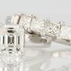 0.99 ct. Emerald Cut Bridal Set Ring #1