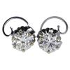 Pair 2.95 CTW Round Brilliant Diamond Stud Earrings #4