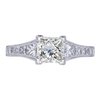 1.25 ct. Princess Cut Solitaire Ring, K, SI2 #4