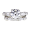 1.51 ct. Round Cut Bridal Set Ring, D, SI1 #3